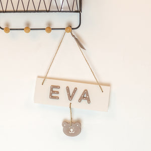 Personalised Teddy Name Sign
