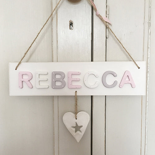Personalised Vintage Heart Name Sign - Florence and Grace Personalised Gifts