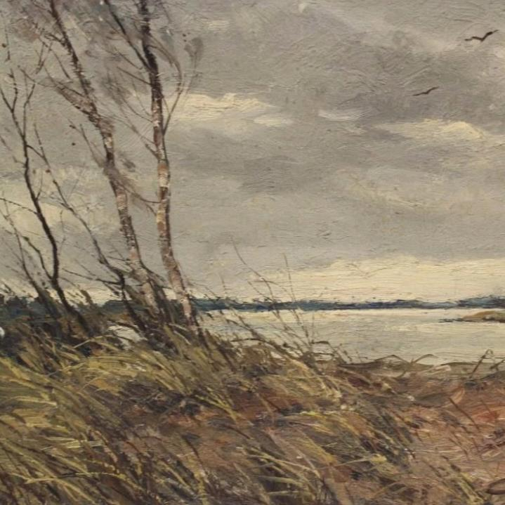 """ Marsh Landscape"" Oil on Canvas"