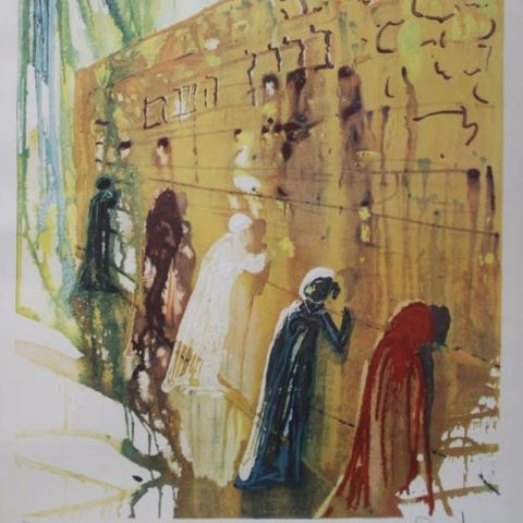 "Dali, Salvador (Spain)  -Lithograph "" Western Wall"""