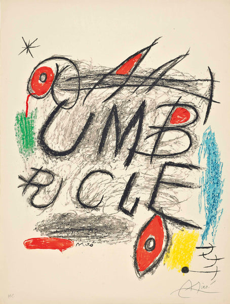 "Miro, Joan - ""Umbracle"" Lithograph in colors"