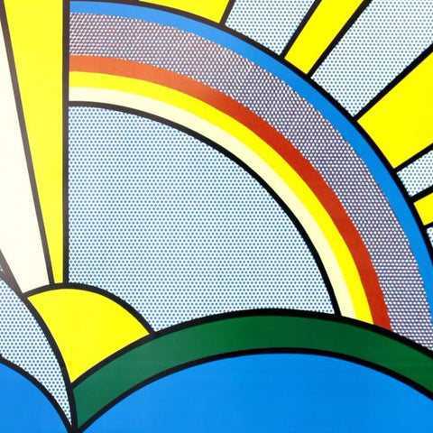 "Lichtenstein, Roy - "" Sun Rays"" Color silkscreen"