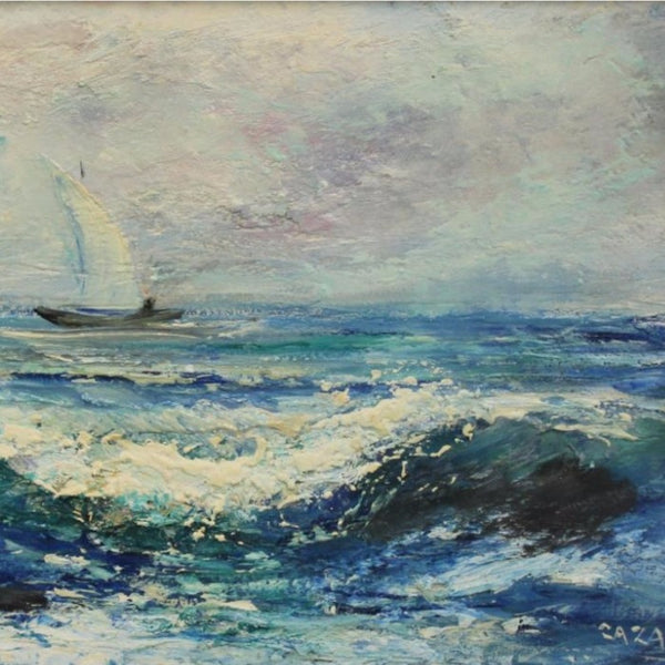 "Caza - "" Seascape"" Oil on Board"