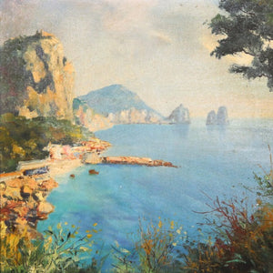 "Lapchine, Georgi (Russian)- ""Capri"" Oil on canvas"