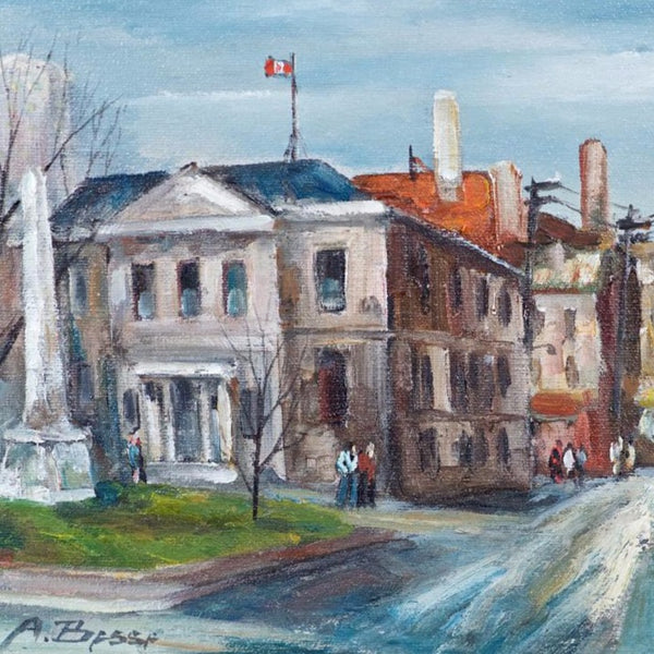 "Besse, André (Canadian) - ""Old Montreal, Place Royal"" Oil on canvas"