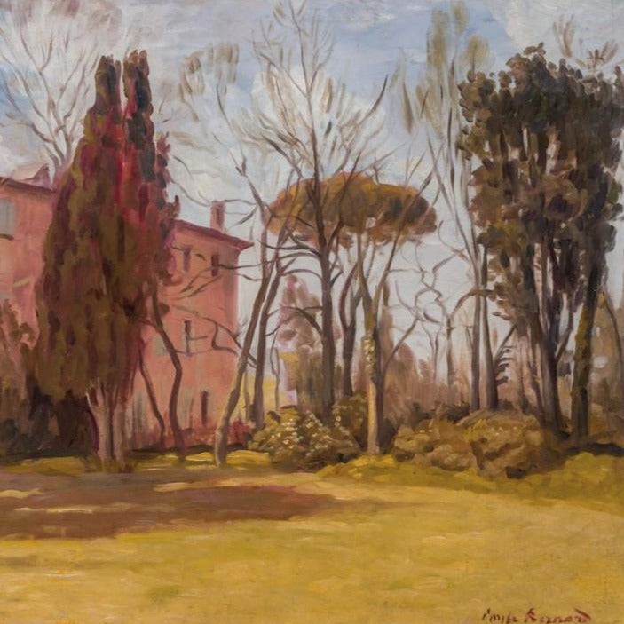 "Bernard, Emile (French)-"" House of the Artist in Aude"" Oil on board"