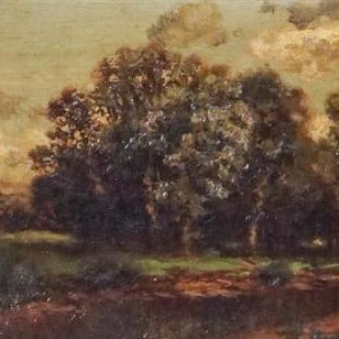 "Daubigny, Charles (French)- ""Wooden Landscape"" Oil on canvas"