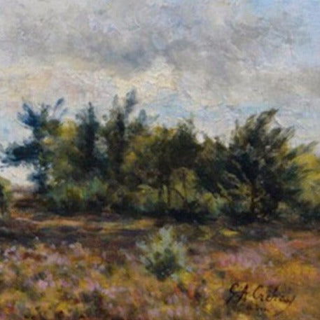 "Crehay, Gerard (Belgium) - ""Landscape"" Oil on wood panel"