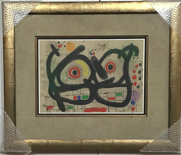 "Miro, Joan - ""Golden Feathers Lizard"" Lithograph"