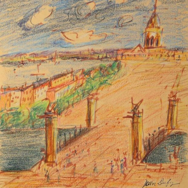 "Dufy, Jean (French)- ""Pont Alexandre"" Crayon drawing"