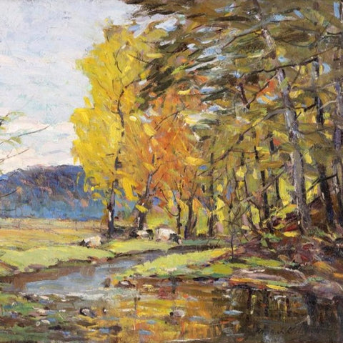 "Mitchell, Thomas (American) - ""Corbetts Glen"" Oil on board"