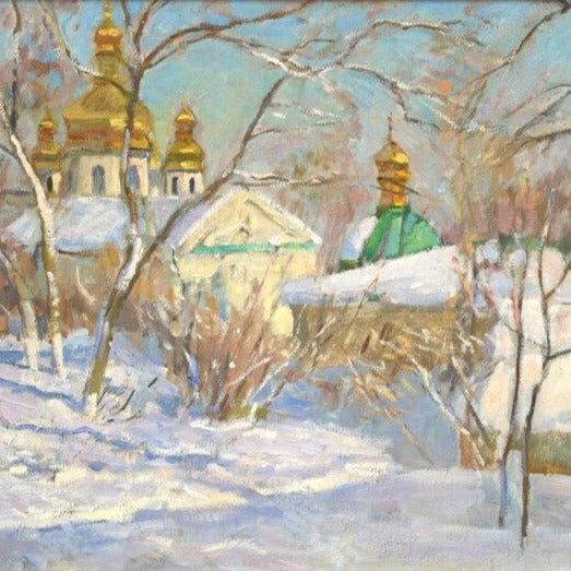 "Rapoport, Boris(Ukraine) -"" Kiev Pechersk Lavra Monestery"" Oil on canvas"