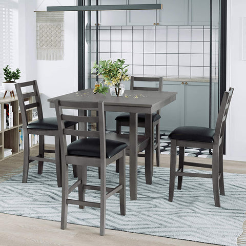 Merax Counter Table Set - 5 pieces, counter height table plus counter stools