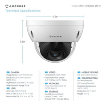 Load image into Gallery viewer, Amcrest UltraHD 5MP Outdoor Dome POE Camera