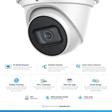 Load image into Gallery viewer, Amcrest UltraHD 4K (8MP) AI Outdoor Security Turret POE IP Camera