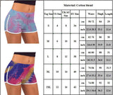Women's Sports Sweat-absorbent Tie-dyed Tight Shorts Elastic Hot Pants - CHALIER