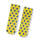 Womens Cute Sweet Short Ultrathin Stockings Printed Patterns Polka Dot Ankle Socks Set 6 Pairs - CHALIER