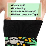 Women Cozy Socks Fun Crazy Socks Cotton Cartoon Green