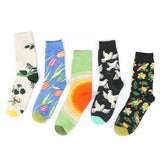 Chalier Mens Casual Crew Art Socks Set