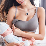 Women Seamless Nursing Bra Wirefree Breastfeeding Maternity Bra - CHALIER