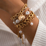Female Fashionable Bracelets Woman Hot Heart Drop Jewelry Set