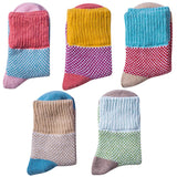 Womens Vintage Winter Soft Warm Knit Thick Wool Crew Socks 5 pairs