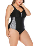 Plus Size Women's Basic Casual One Piece Backless Swimsuits