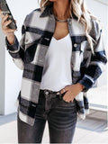 Women's Fashion Outwear Check Pattern Jacket