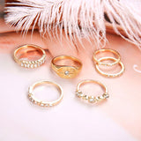 Female Design Gold Rings Woman Hot Stars Jewelry Set