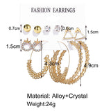 Female Hot Earrings Drop Pantherine Hoops Earrings 12PCS Sets