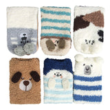 Womens Fuzzy Christmas Socks Winter Cozy Soft Fluffy Slipper Socks Gifts 6 Pairs