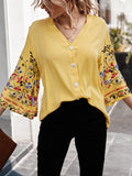 Women's Fashion Top Casual Embroidery Design Shirt