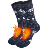 Man's Winter Thick Cozy Thermal Socks Heat Socks Carbon Black 1 Pair