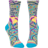 "Mens Happy Crazy Socks ""LOVE MY ASSHOLE KIDS"" Fun Casual Cotton Crew Socks - CHALIER"