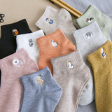 Womens Cartoon Cute Short Socks Set Cute Animals Socks Set 10 Pairs
