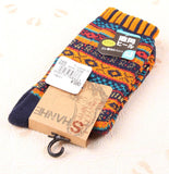 Chalier Men Winter Socks Colorful Stripes Orange - CHALIER