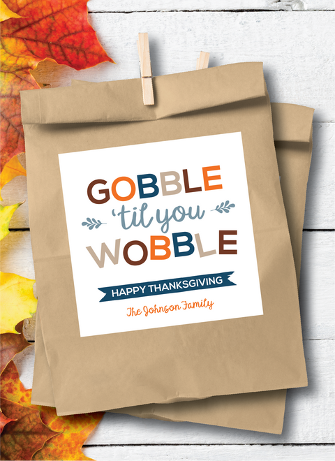 Fall +Thanksgiving | Stickers + Tags