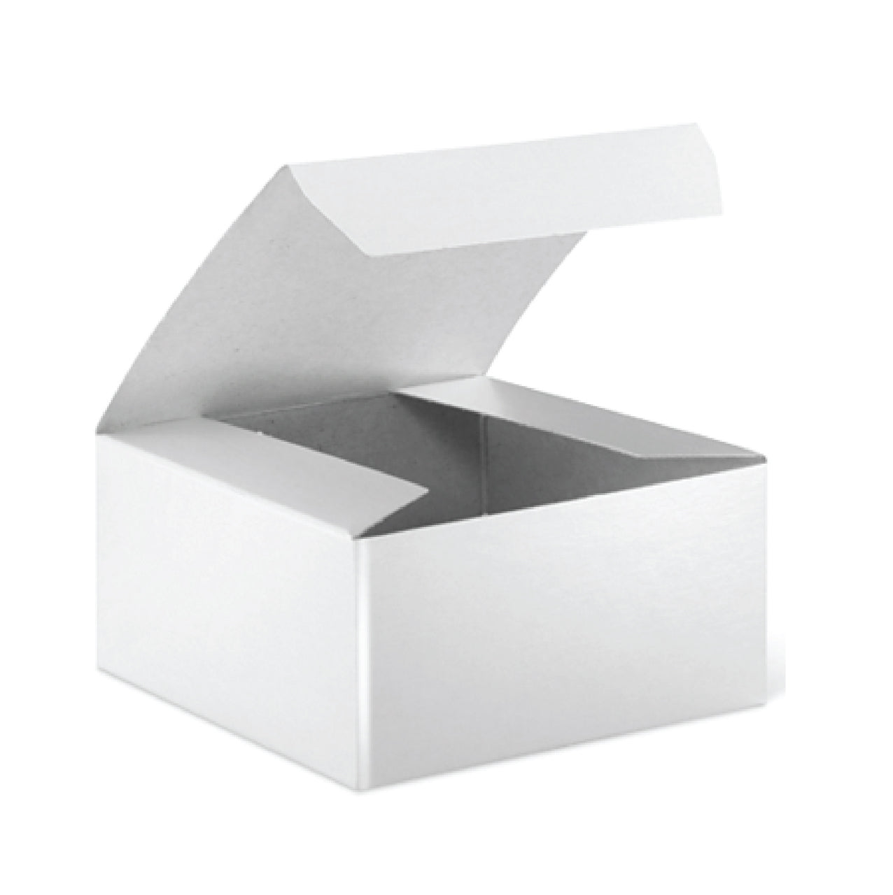 White Gloss Gift Boxes . 4x4x2