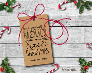 Have Yourself A Merry Little Christmas Kraft Tags . Personalized Christmas Gift Tags