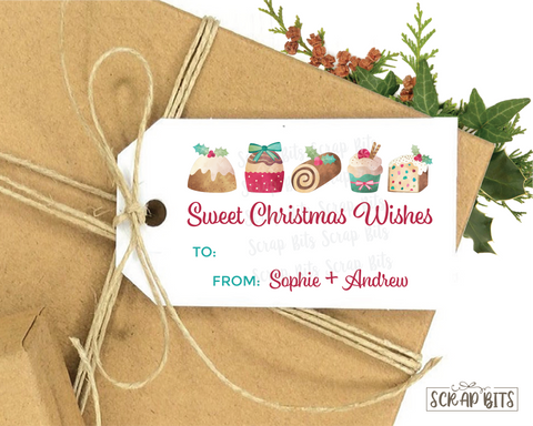 Sweet Christmas Wishes Tag . Personalized Christmas Gift Tags