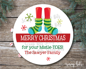 For Your Mistle-Toes Stickers or Tags . Christmas Gift Labels