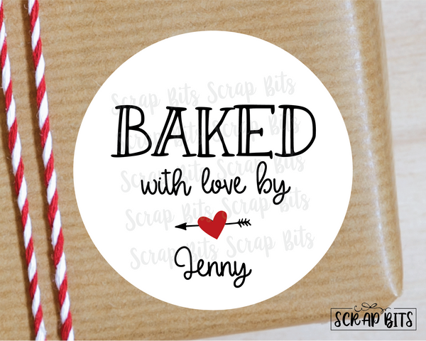 Baked With Love Stickers or Tags . Baking Labels
