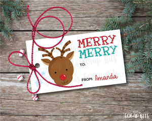 Reindeer Tags . Personalized Christmas Gift Tags