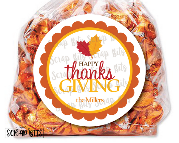 Happy Thanksgiving Stickers or Tags