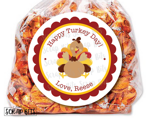 Thanksgiving Turkey Stickers or Tags