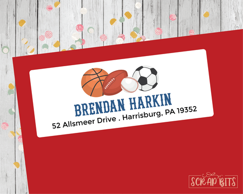 Sports Address Labels
