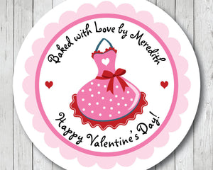 Valentine Apron Stickers, Valentine Baking Labels . Valentine's Day Stickers or Tags