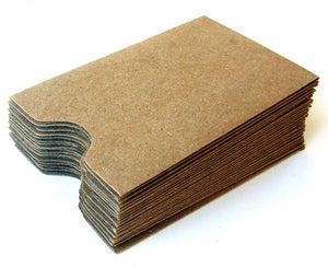 "Kraft Card Sleeves, Gift Card Sleeves . 2-3/8"" x 3-1/2"""