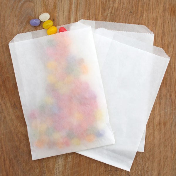 Flat Glassine Favor Bags (Medium) . 5.5x7.75 inches