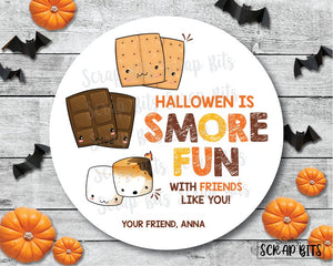 Halloween is Smore Fun Stickers or Tags
